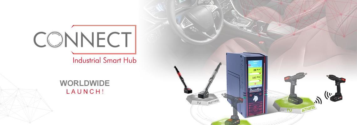 S ponosom vam predstavljamo naš nov izdelek - Industrial Smart Hub,  Poimenovan: CONNECT rešitev Desoutter 4.0.