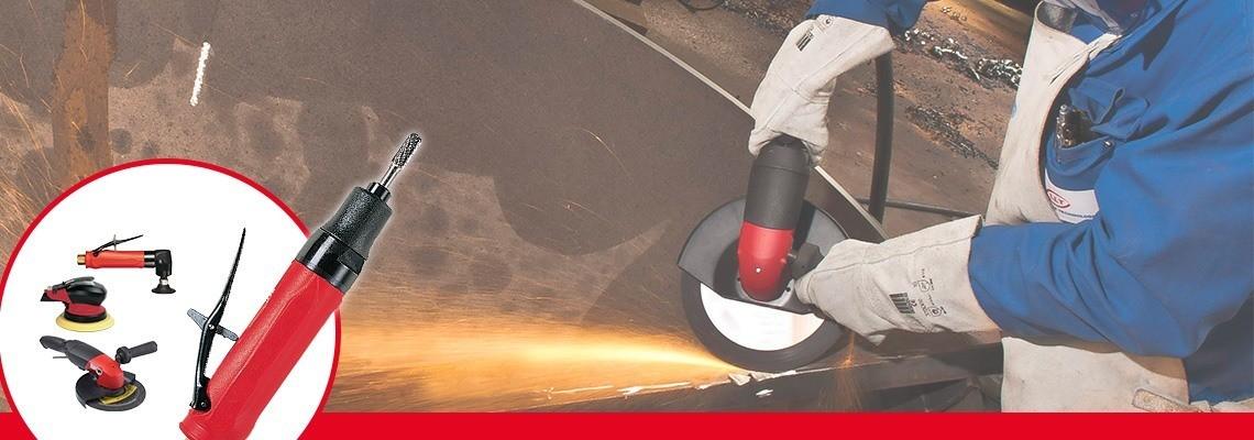 Spoznajte grobe brusilnike z manšetno čeljustjo družbe Desoutter Industrial Tools. S celovito ponudbo pnevmatskih brusilnikov boste izboljšali svojo učinkovitost. Zaprosite nas za ponudbo.